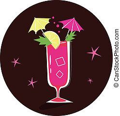 Cocktail illustration: Bloody Mary - A Bloody Mary is a...
