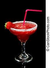 cocktail, jordgubbe