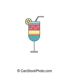 Cocktail line icon