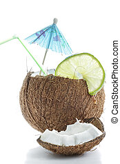 Cocktail made of coconut