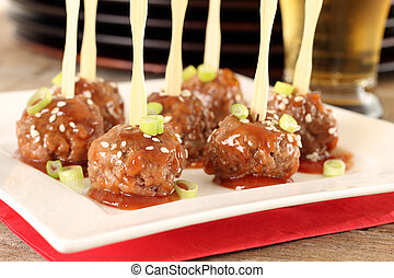 Cocktail meatballs - Cocktail beef meatballs in sweet and ...