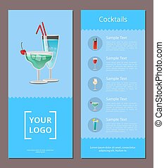 Cocktail Menu Advertisement Poster with Prices