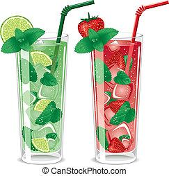 cocktail, mojito, rinfrescante