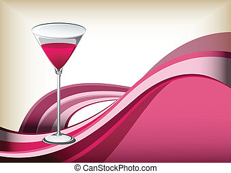 cocktail on abstract background.
