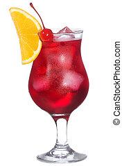 cocktail, orange, alcool, couper, rouges