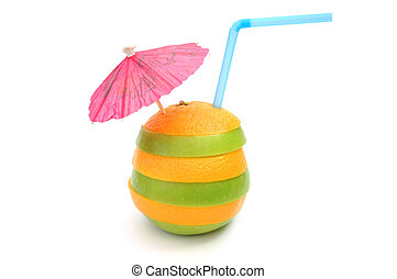 Cocktail, orange and apple