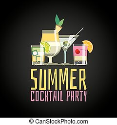 Cocktail summer party