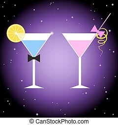 Cocktail Party Poster Design template.