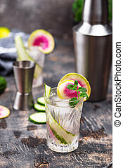 cocktail, radis, concombre
