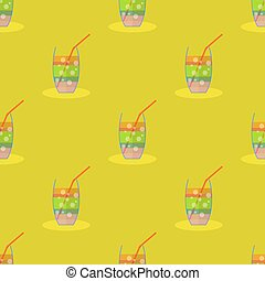 Cocktail Seamless Pattern. Beverage Background.