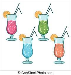 cocktail, set, alcolico
