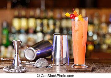cocktail shaker, bartender tools, a set of equipment