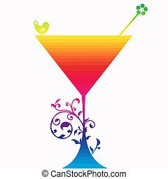 cocktail, silhouette, bevanda