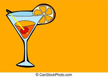 Cocktail - cocktail drink in simple but bold drawing style