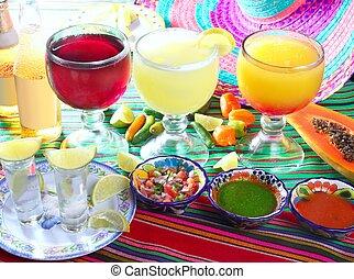 cocktail, tequila, płeć, piwo, plaża, margarita
