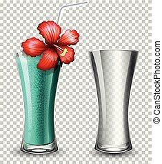 cocktail, transparent, fond