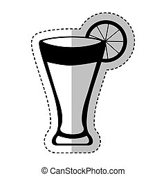 cocktail tropical isolated icon