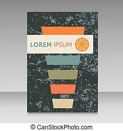 cocktail vector design brochure