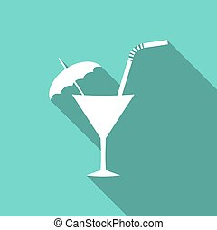 cocktail with a long shadow