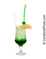 Cocktail with mint isolated