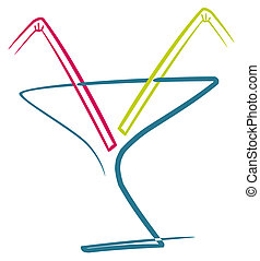 Cocktail with straws