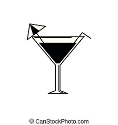 cocktail with umbrella vacation travel icon