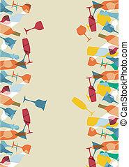 cocktailkarte, design, hintergrund