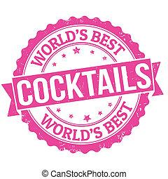 cocktails, briefmarke