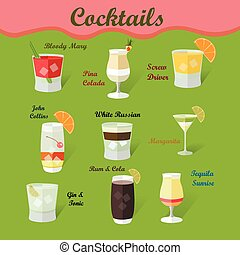 cocktails, collection