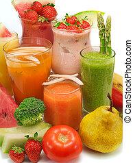 Many healthy drinks