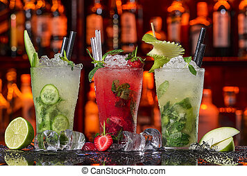 Cocktails Collection - Mojito - Cucumber, strawberry and ...
