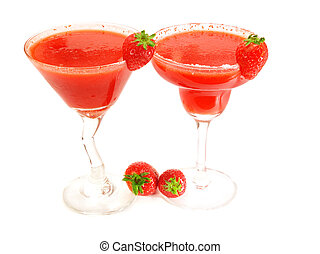 Cocktails Collection - Strawberry Margarita & Daiquiri
