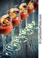cocktails, garnele