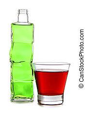 Cocktails in bottle