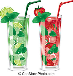 cocktails, mojito, rafraîchissant
