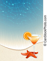Cocktails on the beach