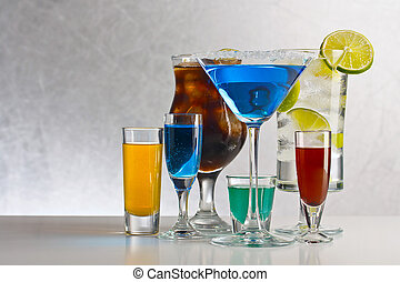 Cocktails with alcohol