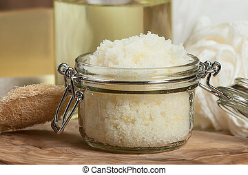 coco, limão, toiletries, oil., feito à mão, spa, esfregar, ...
