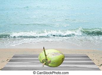 coco, mar, praia