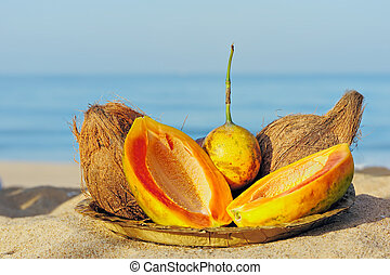 coco, papaye