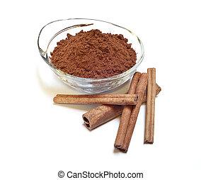 cocoa and cinnamon