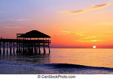 Cocoa Beach Pier's New Tiki Hut Sunrise