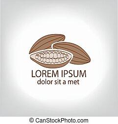 Cocoa beans, logo.