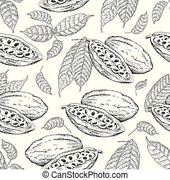 cocoa beans pattern