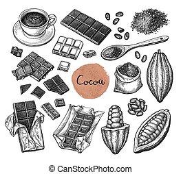 Cocoa big set.