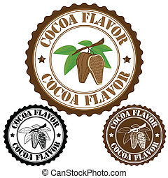 Cocoa flavor stamp - Cocoa flavor set of rubber stamps,...