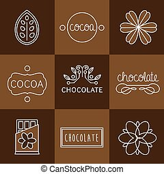 Cocoa Icon set - Cocoa Icon, logo, signs and badges...