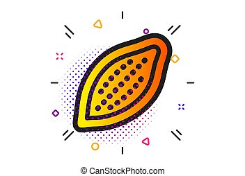 Cocoa nut icon. Tasty nuts sign. Vegan food. Vector - Tasty...