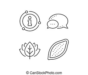 Cocoa nut line icon. Tasty nuts sign. Vegan food. Vector -...