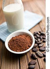 cocoa powder with milk
